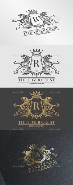 The Tiger Crest Logo - Crests Logo Templates Logos, Logo Branding, Branding Design, Logo Design, Packaging Design, Print Design, Business Logo, Business Card Design, Business Cards