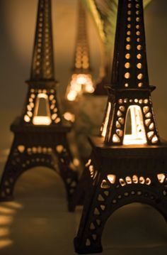 Eiffel Tower tealight candle holders, for the bedroom