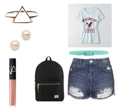 """Untitled #96"" by irmakuns on Polyvore featuring Topshop, American Eagle Outfitters, NARS Cosmetics, Herschel Supply Co., Tie-Ups and Juliet & Company"