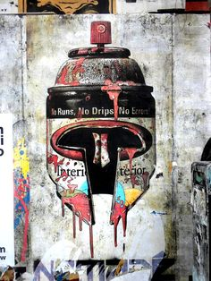 BY NOMADE spray can helmet graffiti