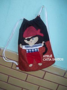 mochila infantil de pirata
