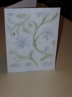 Scrap Rx embossed chalked card