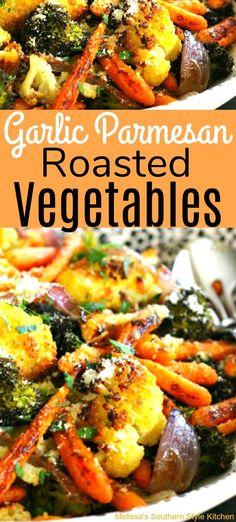 Garlic Parmesan Roasted Vegetables - melissassouthernstylekitchen.com