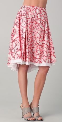 Diane Von Furstenberg. Adella Threaded Silk Skirt
