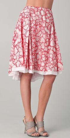 Diane Von Furstenberg. Adella Threaded Silk Skirt