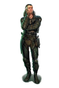 ( concepts / concept / art / characters / character / digital / games / game / fantasy / cloth armor / leather armour / dagger / black grey hair / theif / male / rogue / belts / illustration / illustrative / design / human / )
