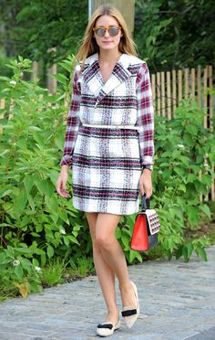 Olivia Palermo Proves Plaid Is the Perfect Fall Uniform from InStyle.com