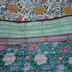 King Quilt bedding Fulwari cotton quilt handmade by Roopantaran, $185.00