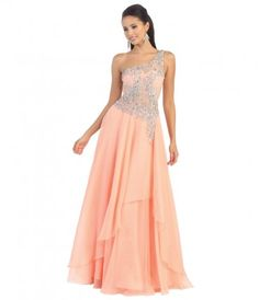 Pink Sheer Lace Bodice #Prom Gown $177.00 #uniqueprom