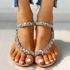 Pearl Sandals, Wedge Sandals, Rhinestone Sandals, Summer Sandals, Summer Shoes, Bohemian Shoes, Fashion Sandals, Strap Heels, Shopping