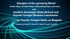 Want to know how the next month is going to be energetically?     http://www.blogtalkradio.com/psychiccowgirl