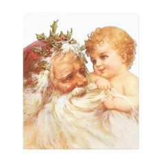 #promo Vintage Christmas Santa Claus And Cute Baby Canvas Print #victorian #retro #art #deco #old #CanvasPrint #affiliatelink #merrychristmassigns #merrychristmas #holidaysigns #christmasdecor Cheap Christmas Gifts, Merry Christmas Sign, Father Christmas, Christmas Baby, Vintage Christmas, Christmas Postcards, Funny Fathers Day Gifts, Fathers Day Crafts, Dad Gifts