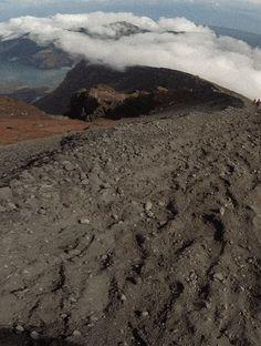 Summit trek of Mount Rinjani in Lombok, Indonesia.