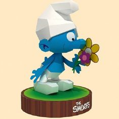 Cartoon The Smurfs Design 3D DIY Papermodel Model Puzzle Toy Papercraft Toy Figures children day