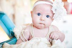 Baby in jewelry box. Blue vintage jewelry box.