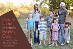 Recently, I wrote a guest post for Mpix with a few tips on taking your own family photos, click on the photo below to view the post.A couple other things I would note regarding taking your own family photo are:Use a tripod or something steady - Since you are taking the photo yourself,…