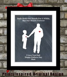 Fathers Day Gift To Dad Daddy From Son Art #personalizedfathersdaygift #quote #fromson , $18.99