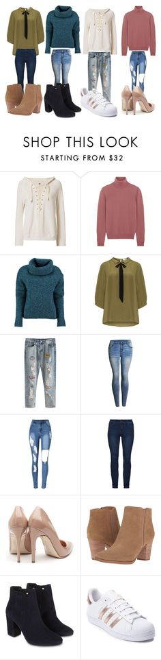 """""""4 outfits"""" by annamariaofficial on Polyvore featuring NSF, Bottega Veneta, Lowie, JunaRose, Rupert Sanderson, Franco Sarto, Monsoon and adidas"""