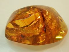 "Amber Resin Gemstone Tumbled Stone 1.75"" 11.2g (AMB1)"