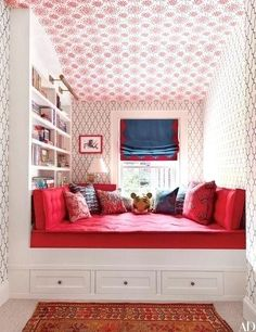 54 Stylish Kids Bedroom & Nursery Ideas : Wall coverings by Hinson & Co. (on the ceiling) and Phillip Jeffries (on the walls) animate a child's room in Brooklyn brownstone. Architectural Digest, Girls Bedroom, Bedroom Decor, Bedroom Ideas, Childrens Bedroom, Girls Daybed, Lego Bedroom, Kid Bedrooms, Small Room Design