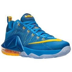 cheap for discount 0b1fe 81dab Men s Nike Lebron Blue Teal Lava 12 Low Basketball Shoe
