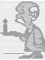 Cool Text Art 4 U: Old Man Holding A Candle ASCII Text Art