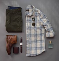 Collection of Outfit Grids/Flatlays [OC - Menswear, Americana, misc. - Mode masculine, formes de style et astuces vestimentaires Outfit Grid, Style Casual, Men Casual, Casual Styles, Mode Outfits, Casual Outfits, Casual Clothes, Mode Masculine, Men Style Tips