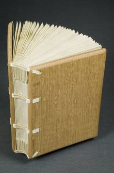 Early medieval binding - uncovered :: University of Iowa Libraries Bookbinding Models