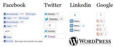 Intégrer des boutons de partage vers les réseaux sociaux.