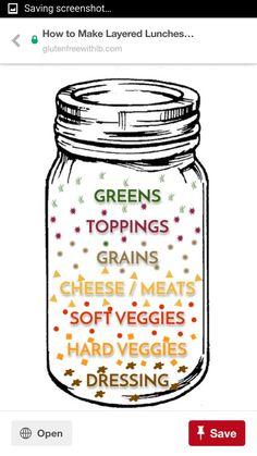 Jar Recipes, Salad In A Jar, Meals In A Jar, Salt, Salts