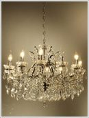 Antique French Crystal Chandelier 18 Arm