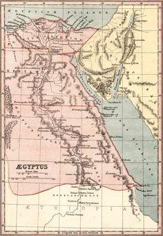 Map of Aegyptus (Ancient Egypt) 1900