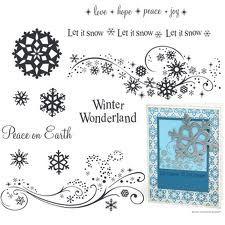 ctmh stamp set snow flurries D1384