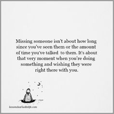 Lessons Learned in Life | I miss you.