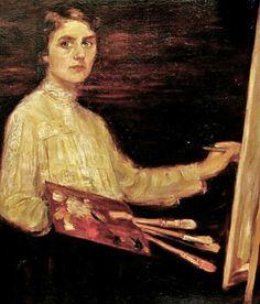 Luisa Vidal Puig (Spanish artist, 1876-1918) Self Portrait