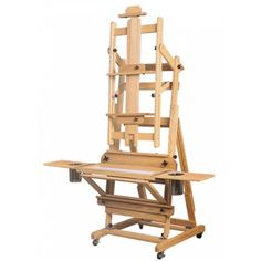 The Best Manhattan Studio Easel is a full-tilt wooden art easel for the serious artist. Designed by a portrait painter, this magnificent wooden art easel is constructed of hand rubbed oak. This is the wooden art easel that professional artists dream of owning!