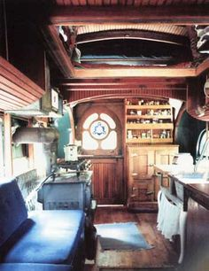 housetruck interior. I want to do this one day.
