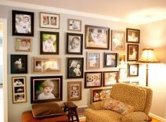 I love the look of this display which is haphazard and organized and dramatic at the same time!
