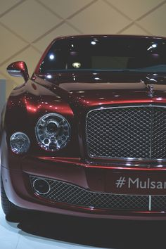 Parke Burgundy Bentley Mulsanne.