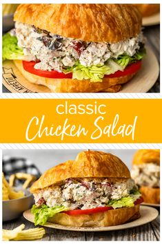 Classic Chicken Salad is the type of recipe every household loves. This Chicken Salad recipe is simple; loaded with chunks of chicken, grapes, herbs, and a creamy base. The best Summer recipe! Healthy Chicken Enchiladas, Chicken Nachos Recipe, Lime Chicken Tacos, Shredded Chicken Recipes, Yummy Chicken Recipes, Easy Salad Recipes, Turkey Recipes, Chicken Meals, Rotisserie Chicken