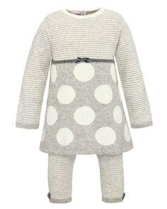 Completo tricot con top a pois- 40E