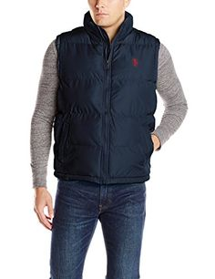 U.S. Polo Assn. Men's Basic Puffer Vest, Classic Navy, XX-Large U.S. Polo Assn. http://www.amazon.com/dp/B00K5LQJJ0/ref=cm_sw_r_pi_dp_R.pEub02NB58N  I am thinking navy blue or black in XXL