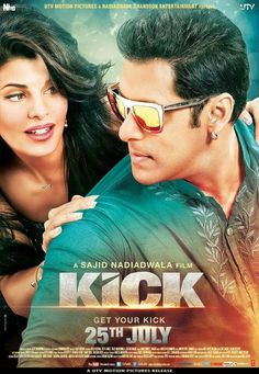 Jacqueline Fernandez and Salman Khan in KICK (2014) | Getting a #KICK Out of a Fun Flick http://www.fallinginlovewithbollywood.com/2014/07/getting-a-kick-out-of-a-fun-flick-starring-salman-khan.html #GetYourKick