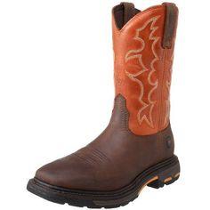 Ariat Men's Workhog Wide Western Boot,Dark Earth/ Brick,13 D US - http://authenticboots.com/ariat-mens-workhog-wide-western-bootdark-earth-brick13-d-us/