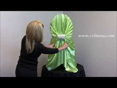 How to tie a universal satin SELF TIE chair cover                                                                                                                                                                                 More