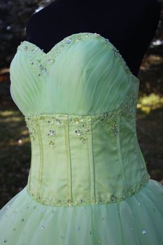 BIG DISCOUNT Handmade Ball Gown Prom/Wedding/Quinceanera Dress with Beading Embellishment. $399.00, via Etsy.