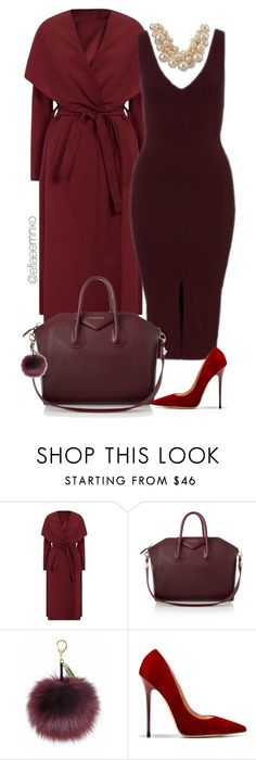 """""""Oxblood"""" by efiaeemnxo ❤ liked on Polyvore featuring Givenchy, Jimmy Choo and Betty Jackson"""