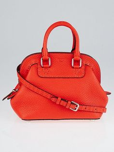 Fendi Red Selliera Leather Mini Adele 1328 Bag 8BN258  fendi  selleria   couture   b4d26daf1d997