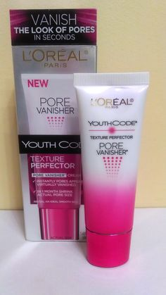 L'Oreal Youth Code Pore Vanisher-Airy cream shrinks pores in four weeks. Use after cleansing or under moisturizer. Does this work ? All Things Beauty, Beauty Make Up, My Beauty, Beauty Secrets, Beauty Care, Beauty Skin, Health And Beauty, Hair Beauty, Beauty Tips
