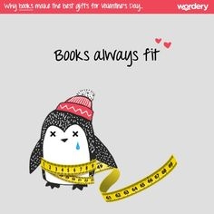 A few reasons why books make the best gifts for Valentine's Day! Books always fit.